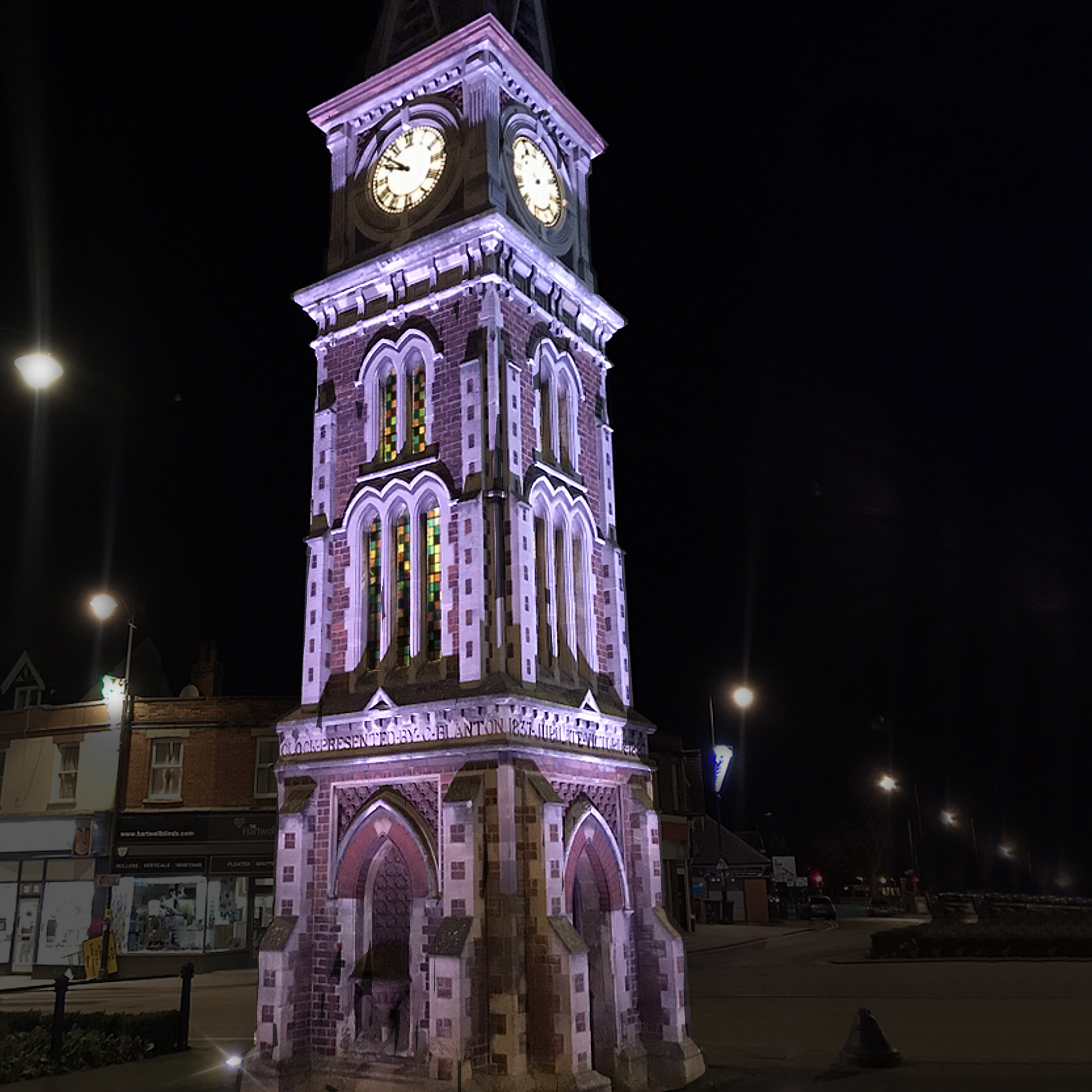 Cozens UK - Public Lighting Installation For Newmarket Clock Tower