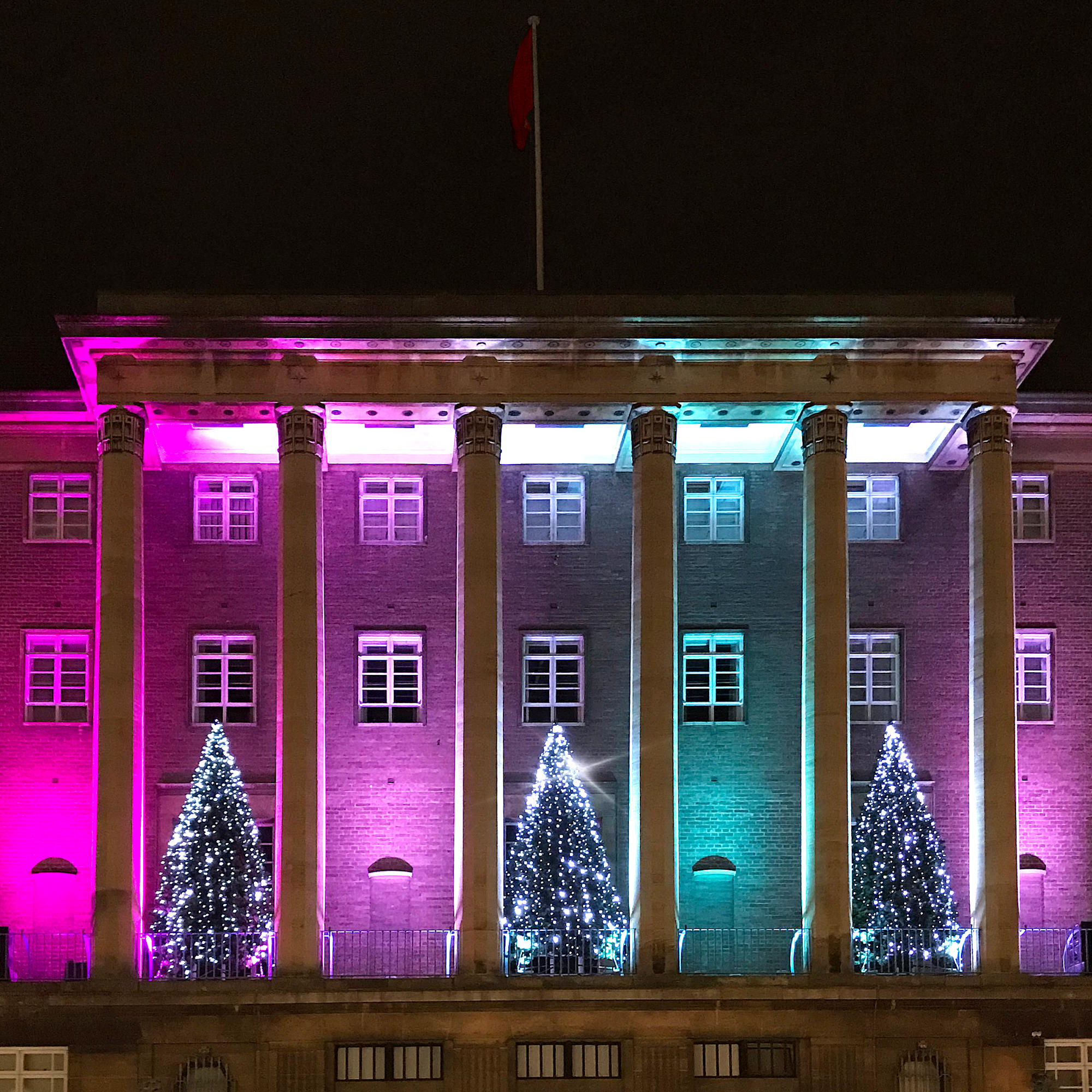 Norwich City Hall - Christmas Lighting and Maintenance